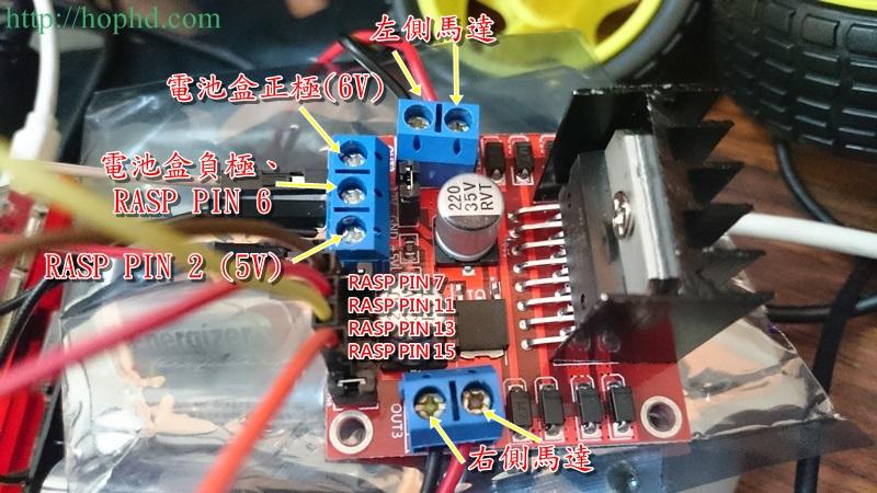 Raspberry Pi樹莓派遙控車–硬體篇