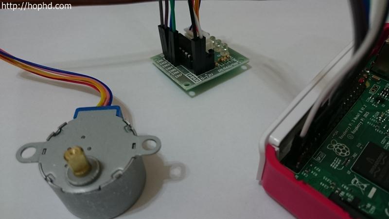 樹莓派Raspberry Pi控制步進馬達