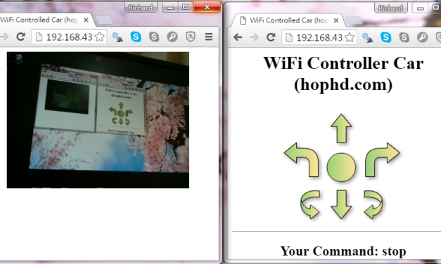 Raspberry 遙控車Flask控制網頁介面實作